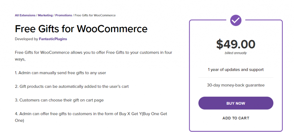 WooCommerce Free Gifts For Marketing