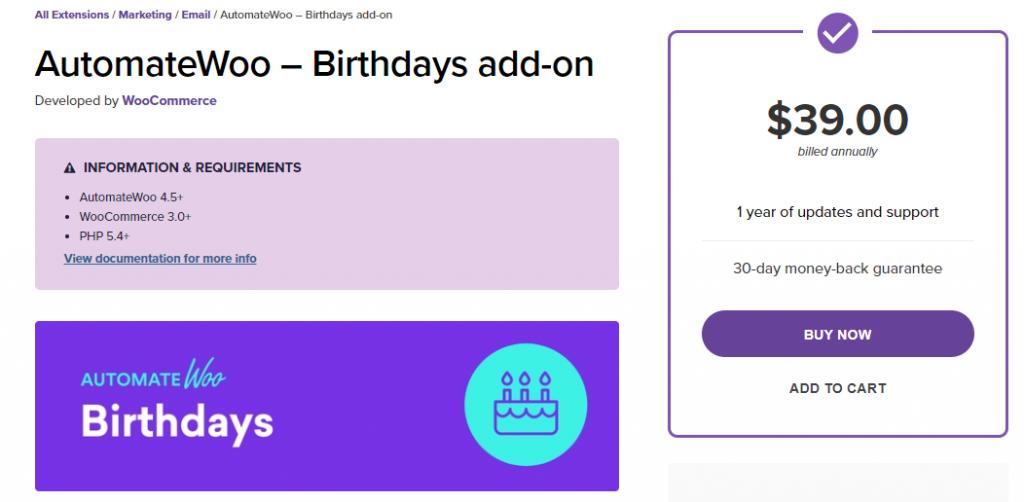 Add-on For Birthdays
