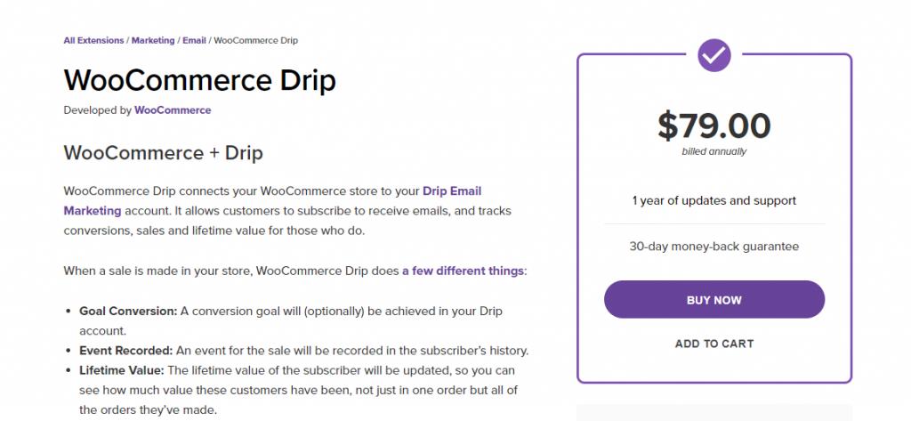 WooCommerce Drip Marketing