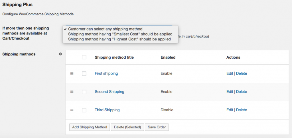 Shipping Plus For WooCommerce