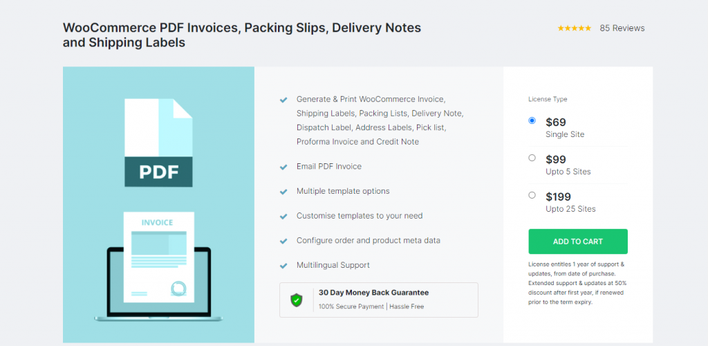 WooCommerce PDF Invoices And Shipping Labels