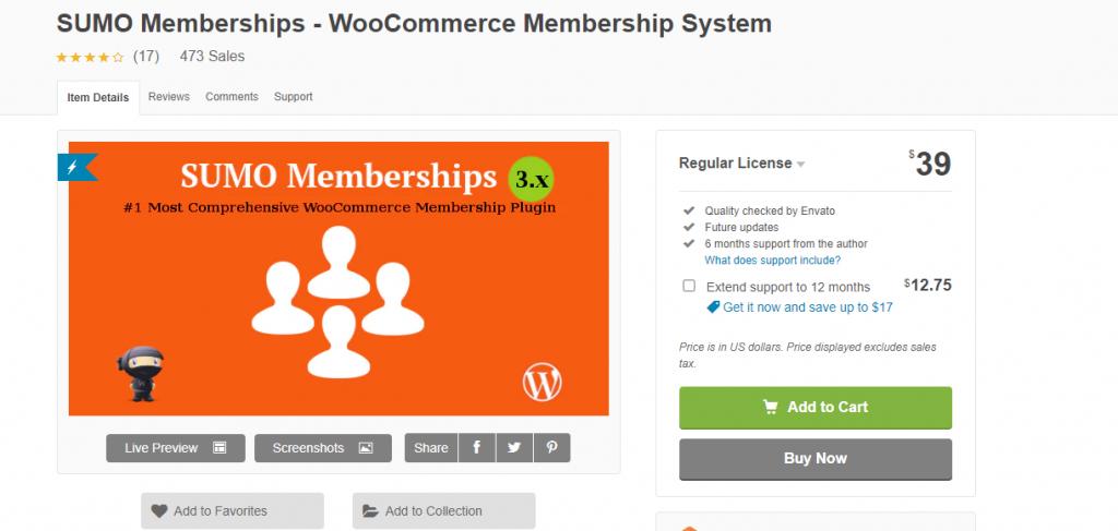 Sumo Memberships For WordPress