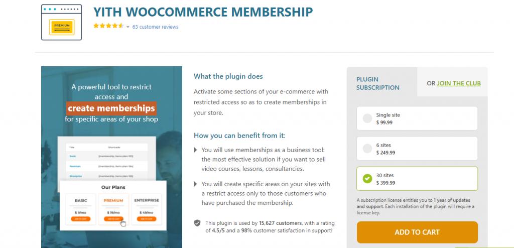 Yith WooCommerce Membership Plugin
