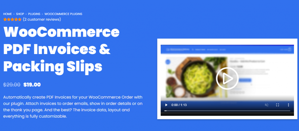 WooCommerce PDF Invoices & Packing Slips Plugin
