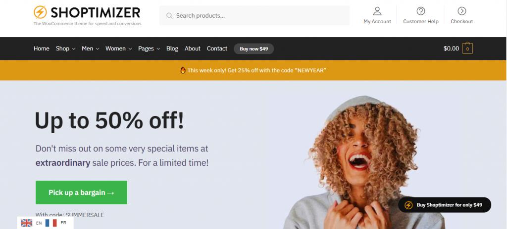 Shoptimizer Responsive free WooCommerce Themes
