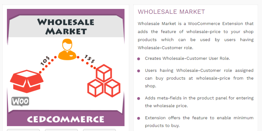 Wholesale Market plugin by CED
