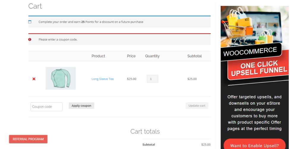 Referral Program WooCommerce Coupon Code