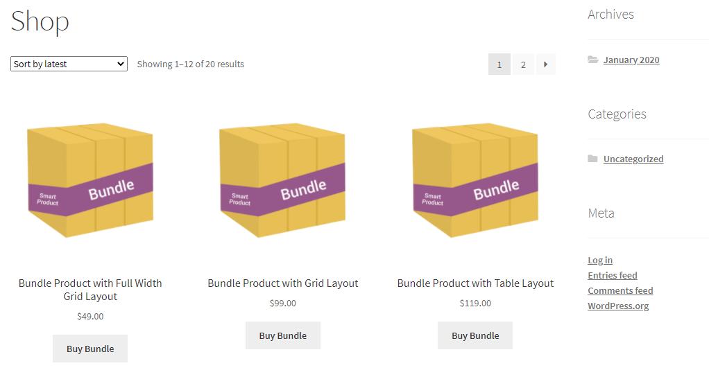 Smart product bundles