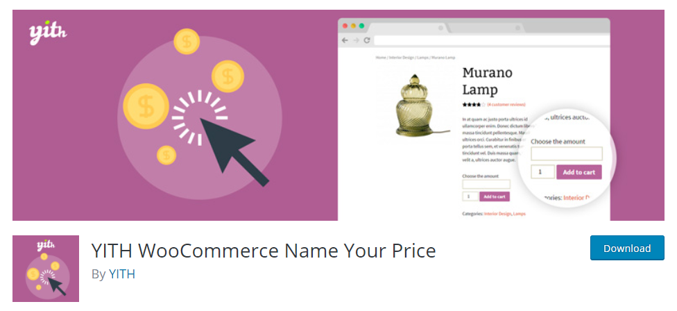 Yith woocommerce name your price