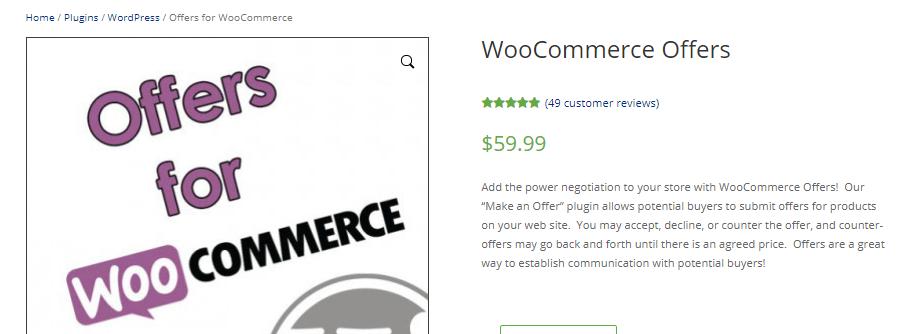 woocommerce make an offer plugins