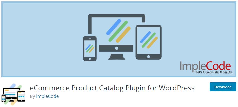 eCommerce Product Catalog