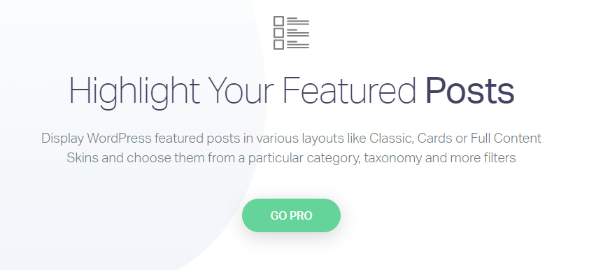 Post Widgets for featured products