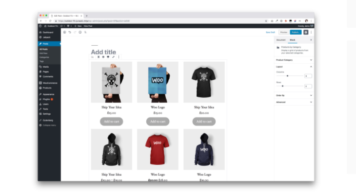 WooCommerce blocks for featured products