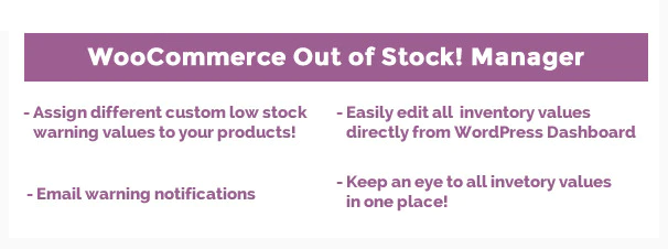 WooCommerce Out-of-Stock  Inventory Manager