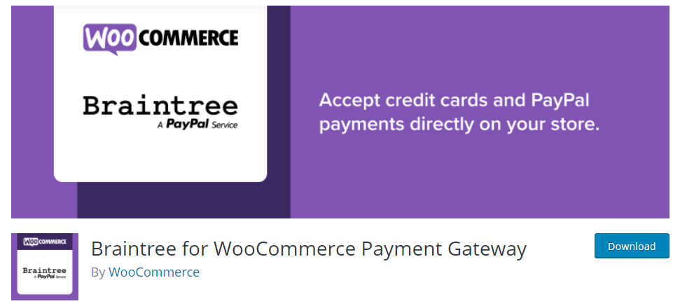 PayPal for WooCommerce by Braintree