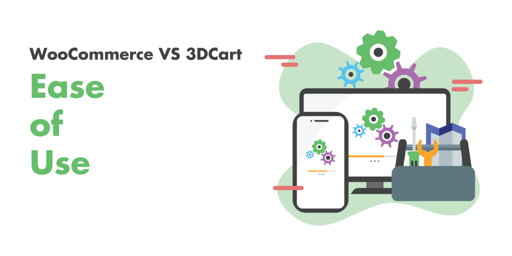 woocommerce or 3dcart : ease of use