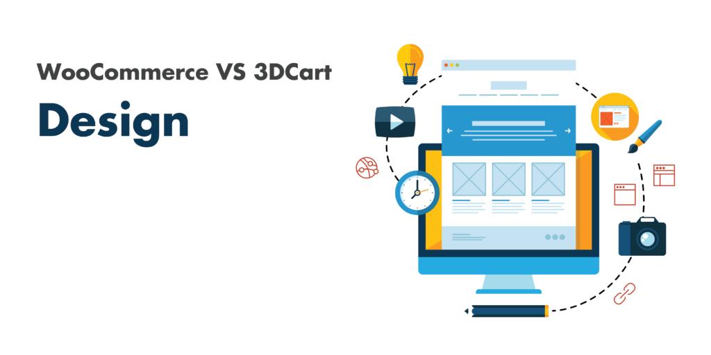 woocommerce vs 3dcart: design
