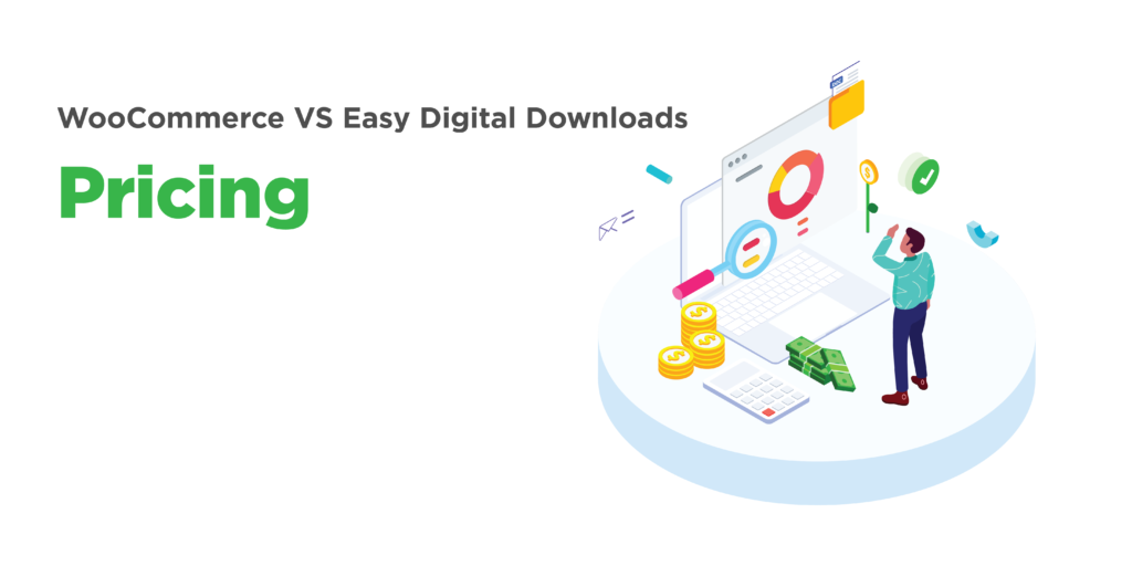woocommerce and easy digital downloads: pricing
