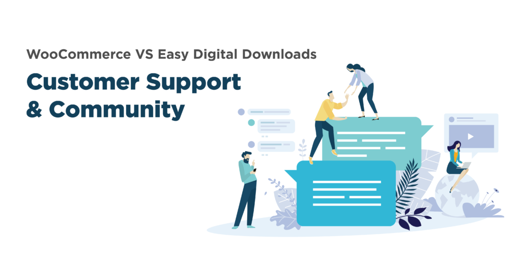 woocommerce or easy digital downloads: community