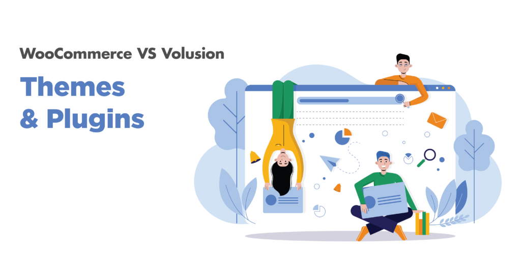 woocommerce or volusion: themes and plugins