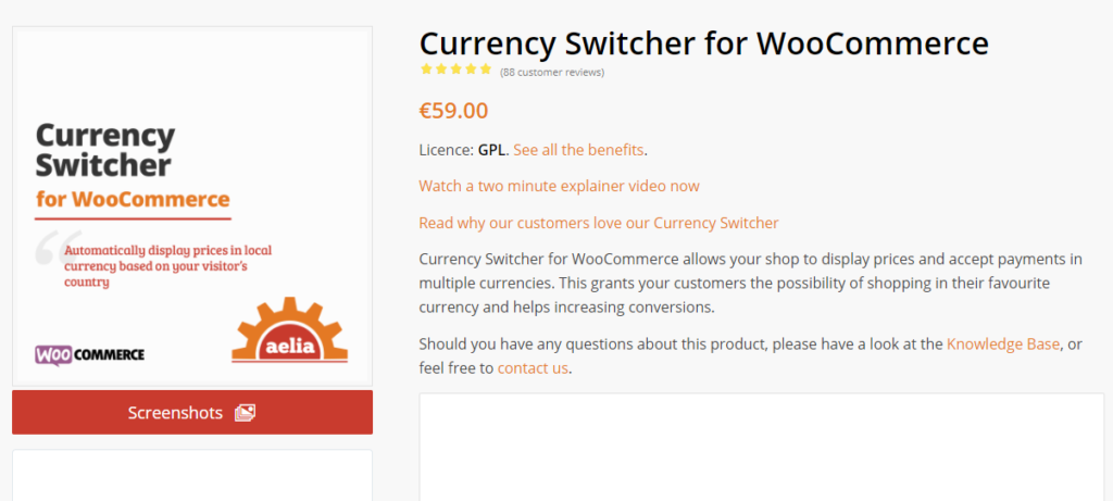Currency Switcher for WooCommerce by Aelia