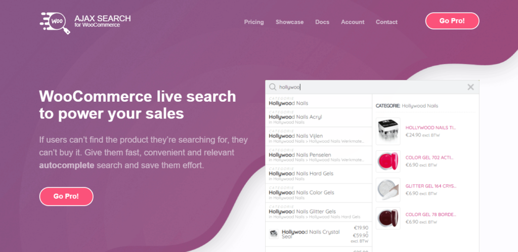 Ajax Search Plugin for WooCommerce