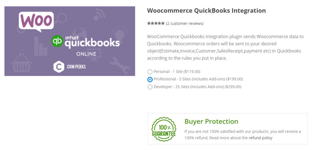 Integration for WooCommerce and QuickBooks by CRM Perks