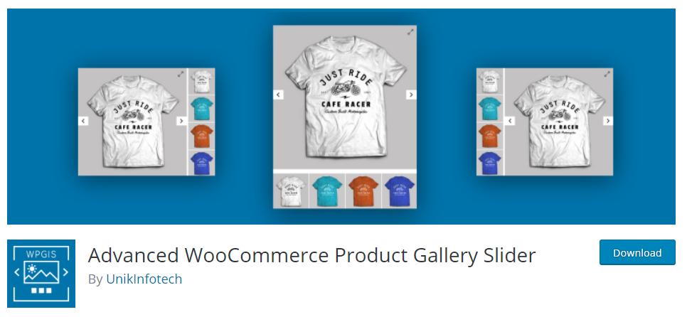 Advanced WooCommerce image Gallery Slider